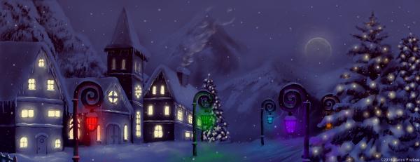 Ein verschneites Dorf zur Weinachtszeit. Eine Zeit die für Singles nicht immer leicht ist.