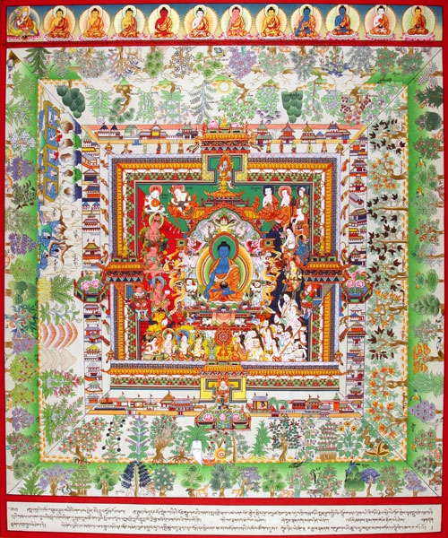 Мандала Будды Бхайшаджьягуру (Будда Медицины)