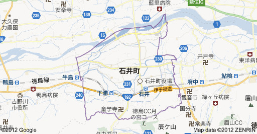 徳島県名西郡石井町の地図