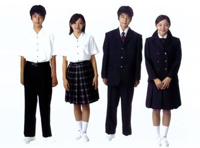 徳島県立城ノ内中学校春服・夏服男女画像