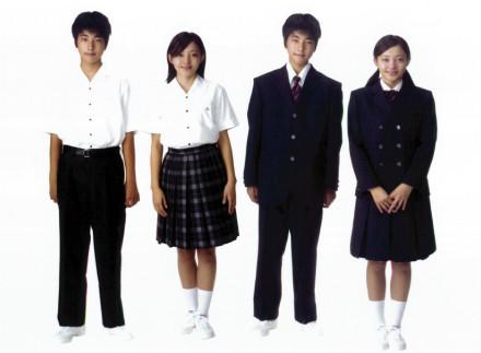 徳島県立 城ノ内中学校男女制服画像