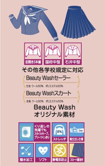 Beauty Wash中学生セーラー特長