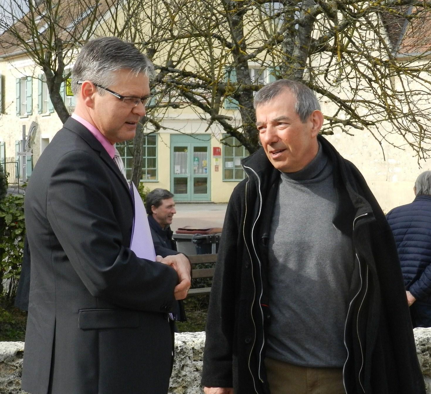 Ronan Léaustic avec Bruno Lahouati Maire de Vallées-en-Champagne