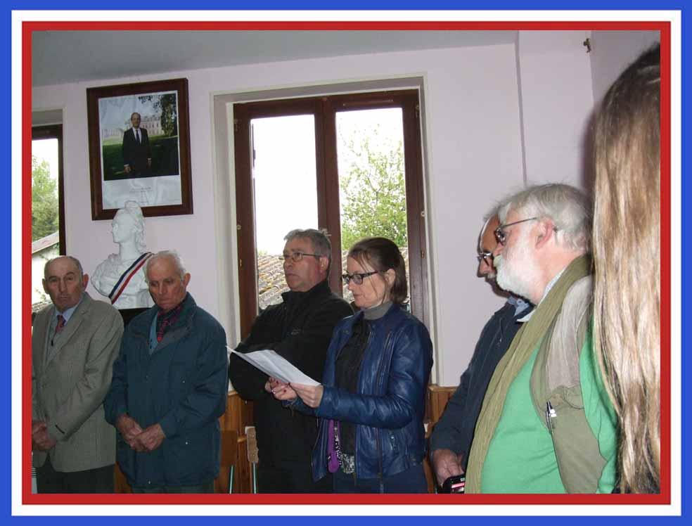 Honneur aux morts des 3 communes historiques  :  de Baulne-en-Brie........