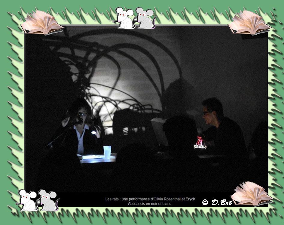 Spectacle dans la pénombre ayant pour thème les rats - Eryck Abecassis (Compositeur) et Olivia Rosenthal.