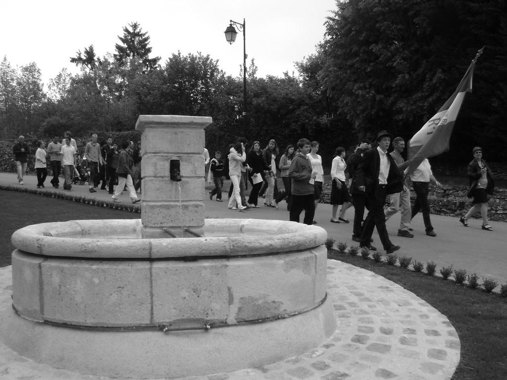 Journées mémoires 2009 Baulne en Brie: le cortège
