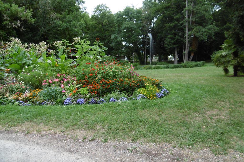 Une toute petite partie du parc du château.
