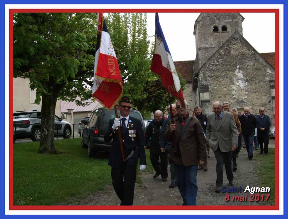 2ème cérémonie à Saint-Agnan.