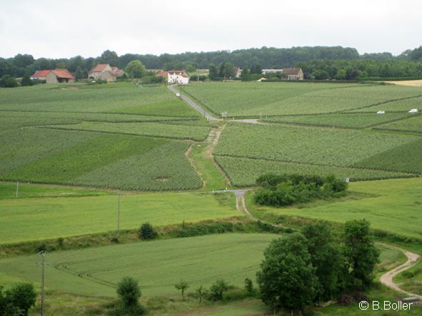 Vue du clocher le hameau de  Montleson