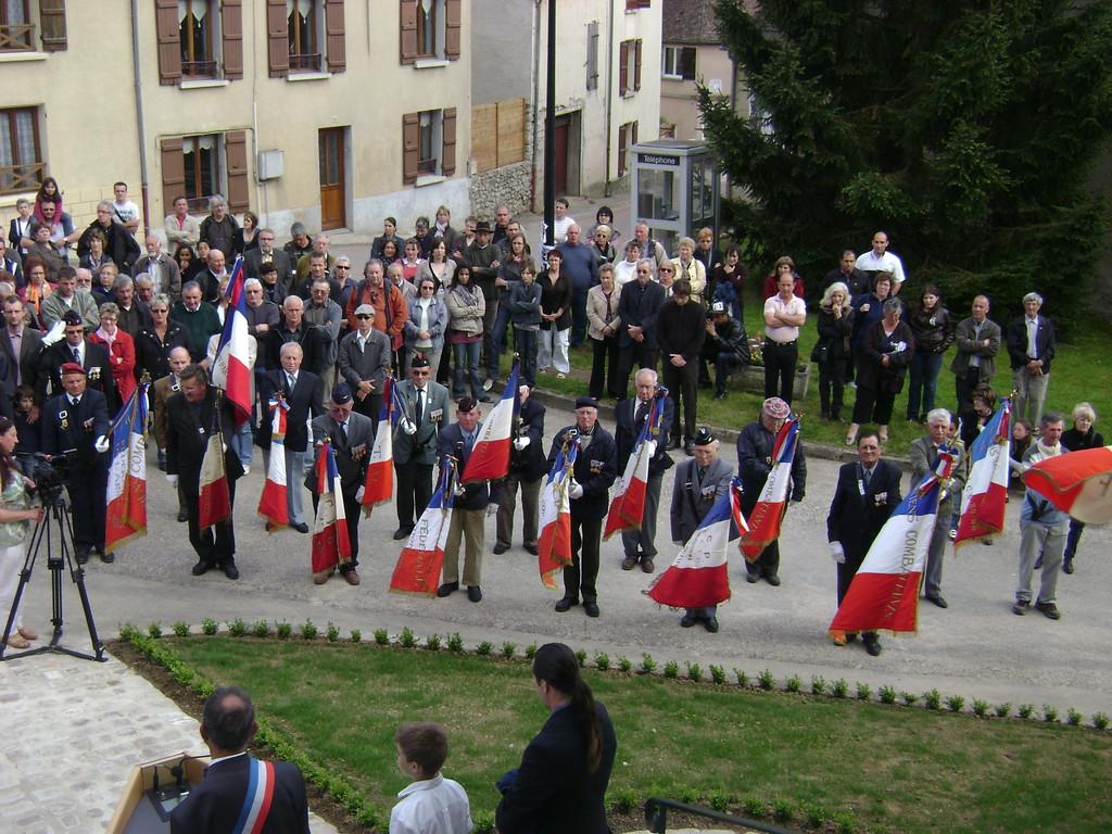 Journées mémoires Baulne en Brie 2009 : l'inauguration de la Place Daniel Beaucreux de Baulne