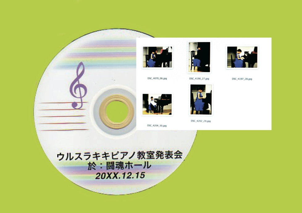 ③CD-ROMに5カット分データ