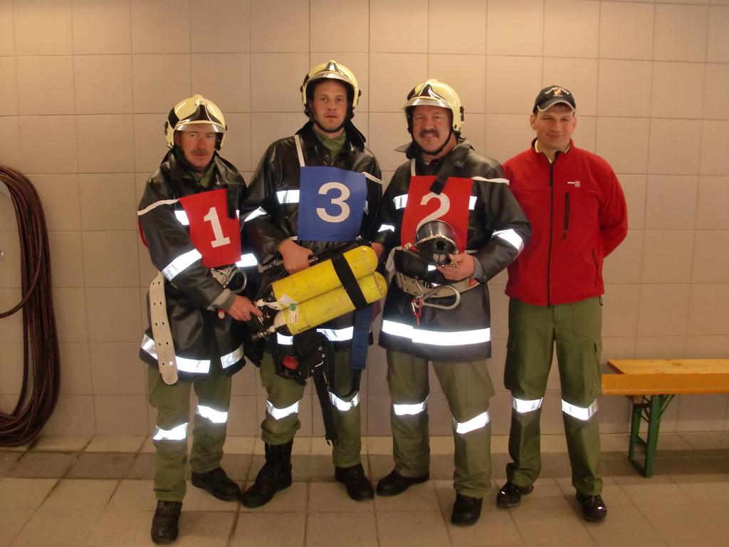 Bewerbsgruppe 2:  Groß Simon, Schlechter Martin, Schermer Andreas und Betreuer Schlechter Franz