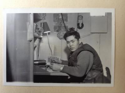 第一次越冬隊参加時の父、望
