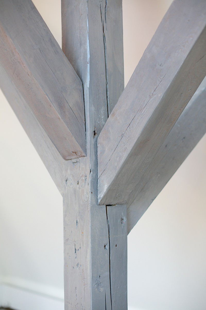offene Balkenkonstruktion