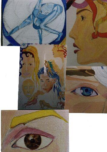 Hat mit einem sehr persönlichen Foto angefangen...AcrylFarbe (unvollendet)...