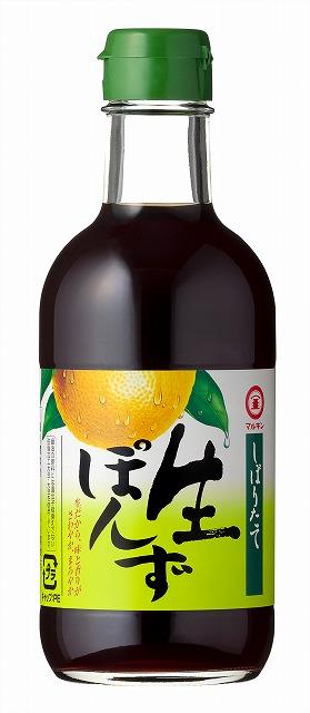 """Ponzu """" Marukin """" 340ml, 生ぽんず マルキン"""