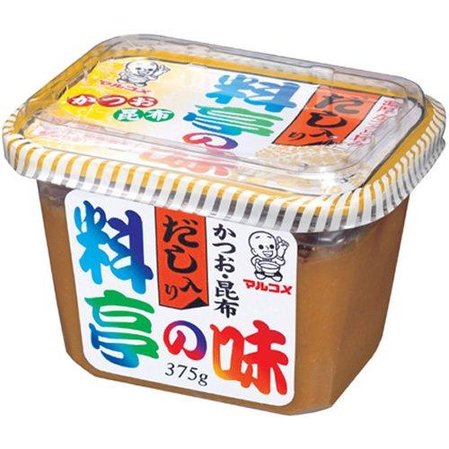 "MISO avec bouillon "" MARUKOME "" 375g, 料亭の味 だし入り マルコメ"