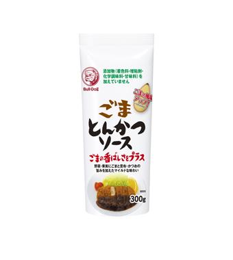 "Tonkatsu sauce au sésame ""Bull-Dog"" 300g, ブルドッグ ごまとんかつソース"