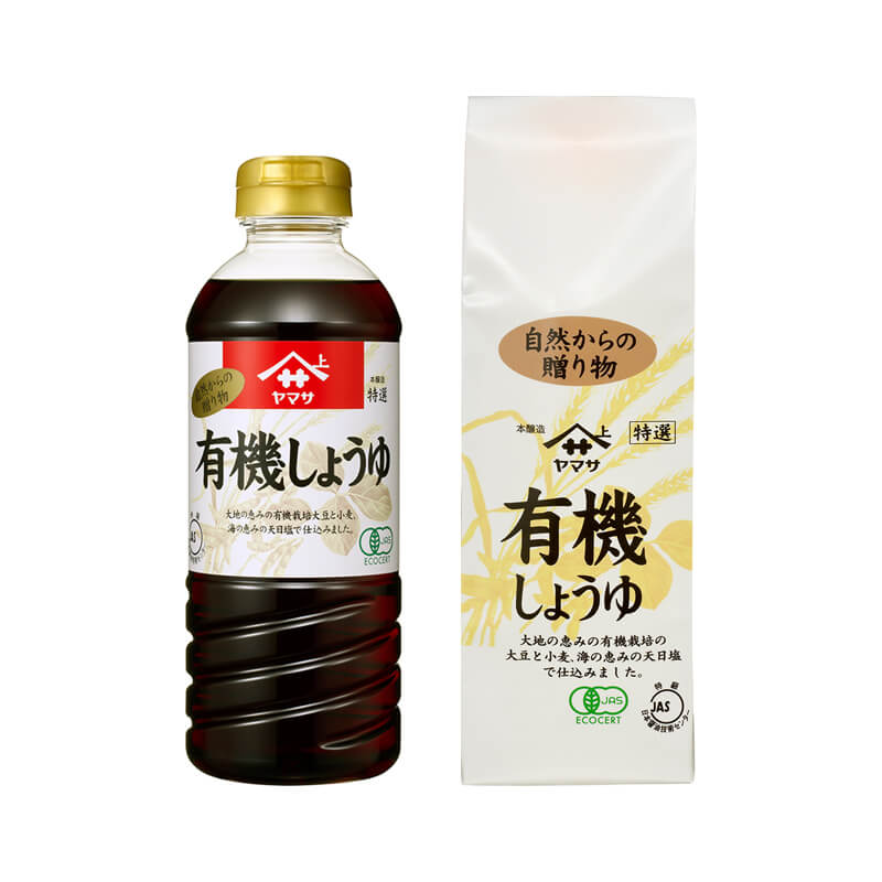 """Sauce soja BIO """" Yamasa """" 500ml, 有機醤油 ヤマサ"""