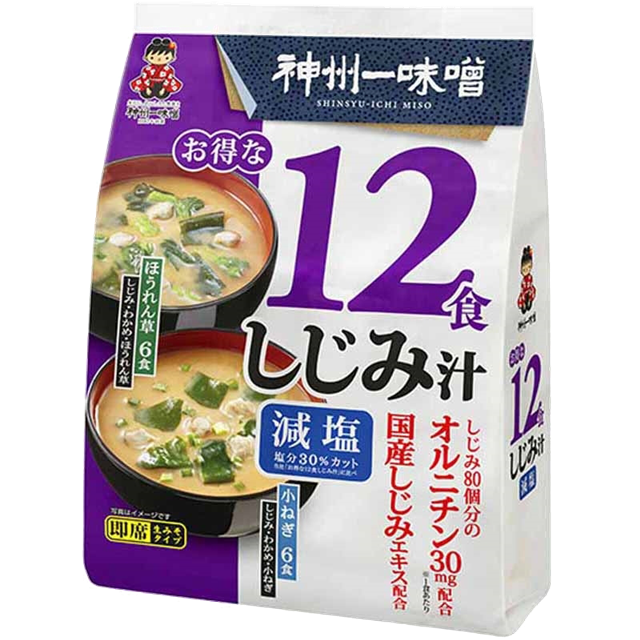 "Soupe miso instantanée avec coquillages 12portions "" SHINSHUICHI "", お得な12食しじみ汁 神州一"