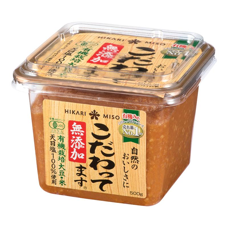 "MISO BIO "" HIKARI "" 500g, こだわってます 有機味噌 ひかり"