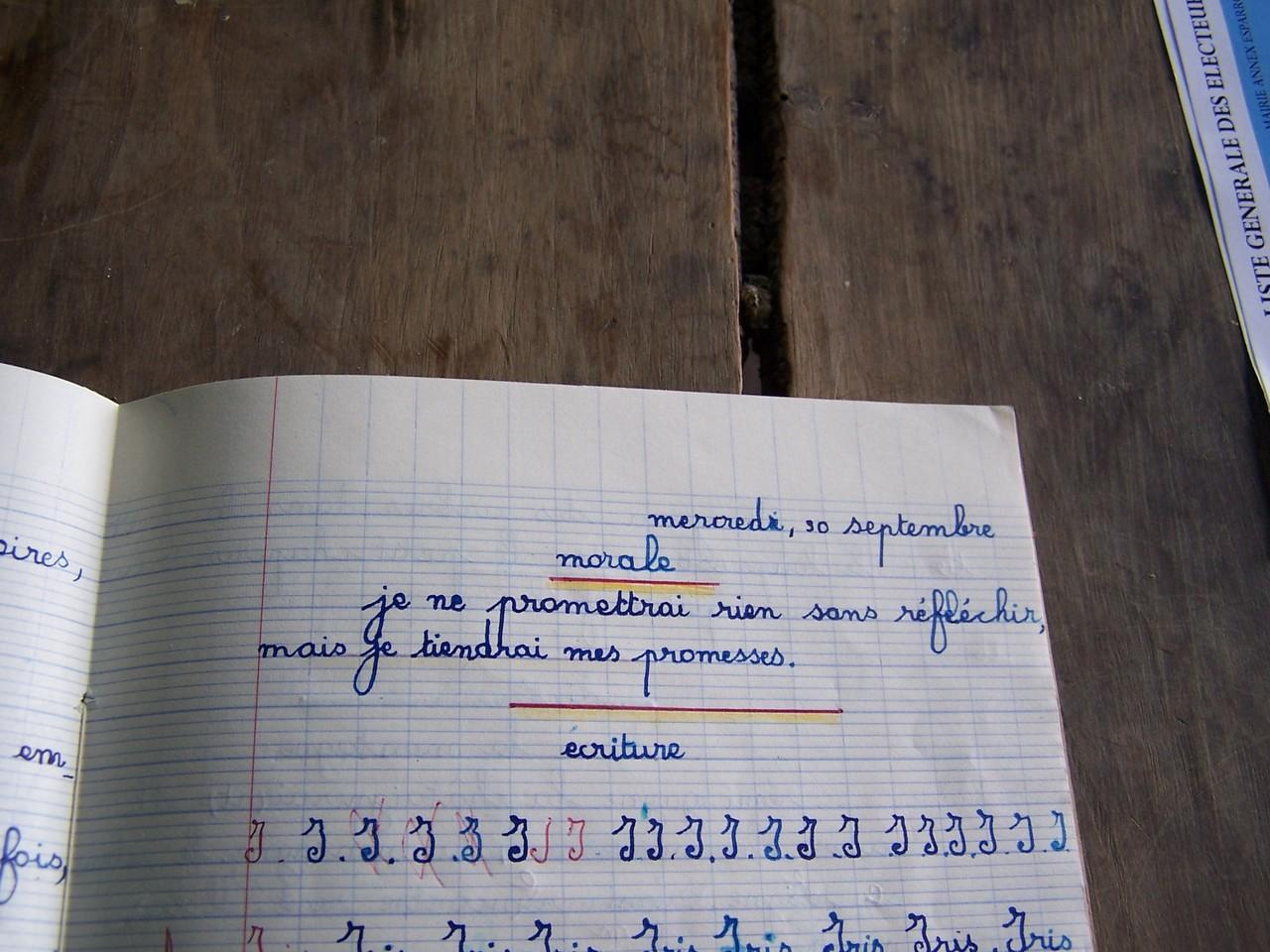 Cahier d'écolier Esparron la Bâtie