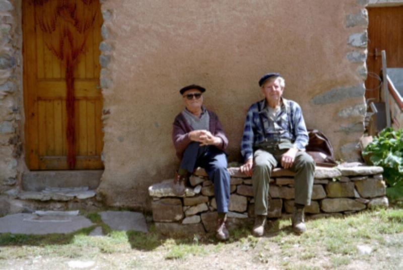 "Aimé GARCIN et Emile ""du Seuil"" (photo de Jean VESCO)"