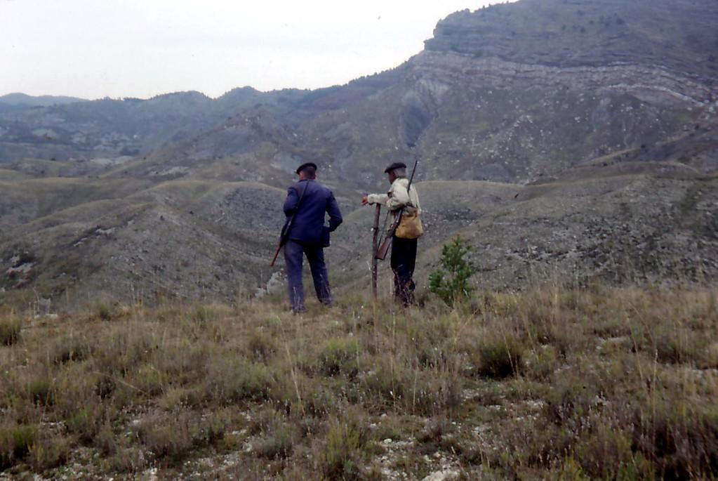 1987 Automne  Aimé GARCIN & Duval SARLIN au poste à sangliers des Condamines