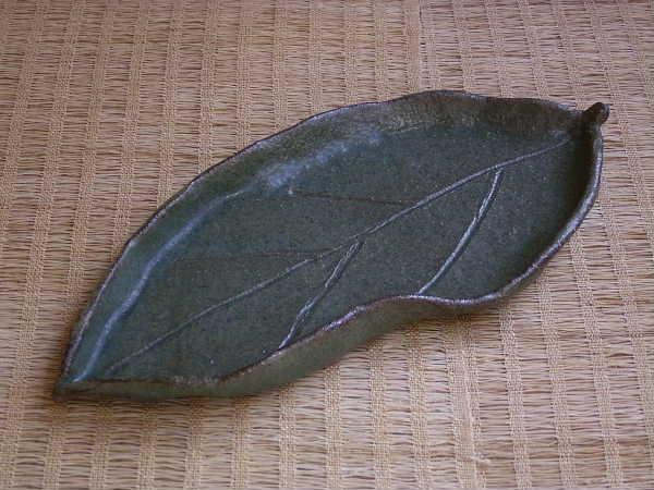 葉っぱの形のお皿です。(1550円コース)