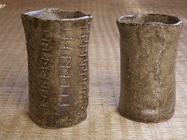 窯がガス窯で、焼成は還元焼成。釉薬の色に深みと味わいがあります。(1550円コース)