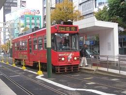 市内を循環する路面電車