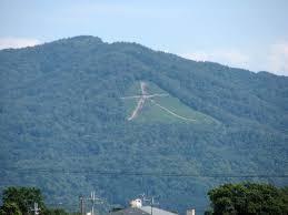 如意岳の支峰 「大文字山」       襄僑居三本木正面
