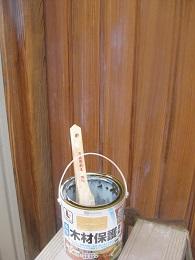 次は玄関ドアの補修