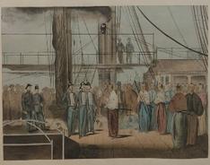 オランダ船に乗り込む鍋島直正公