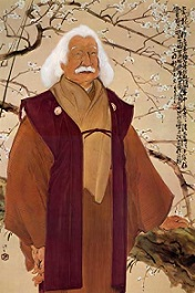 川端龍子描く88歳の徳富蘇峰 ネットより