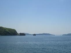 倉橋島のからの眺め