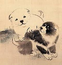 同じく円山応挙画「狗子」