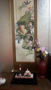 本日のテーマはひな祭り  床の桃の花