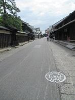 井桁屋前の通りは東海道
