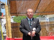 竹原頼山陽顕彰会長の竹鶴壽夫氏
