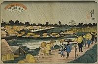 江戸八景吉原の夜雨 /浮斎英泉