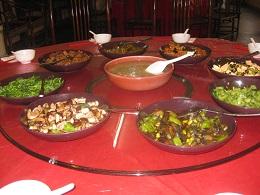 精進料理の数々