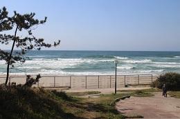 波の音が印象的だった日本海(浜田)