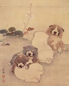 円山応挙画「狗子」