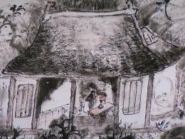 文人の暮らしぶりが描かれる玉堂の絵。