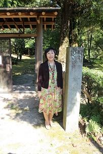 2014・10・19叢桂園に立つ筆者