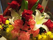ステキなお花をいただきました。