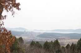山頂からは旅順港が一望。