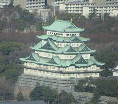 ある展望台から眺めた名古屋城