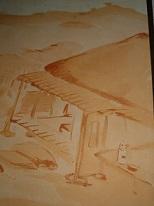 頼山陽全書 表紙裏「嶺松蘆」に描かれた煎茶道具